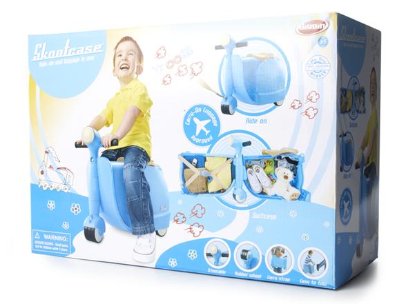 Koffer für Kinder italienisch Scooter