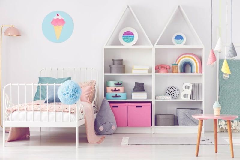 Regale umbauen Kinderzimmer toller Look