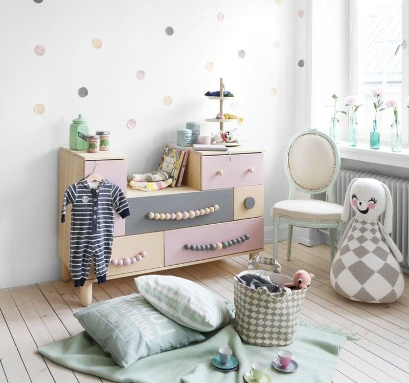 IKEA Hacks Kinderzimmer Kommode dekorieren