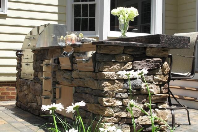 Outdoor Küche Unterbauten Naturstein