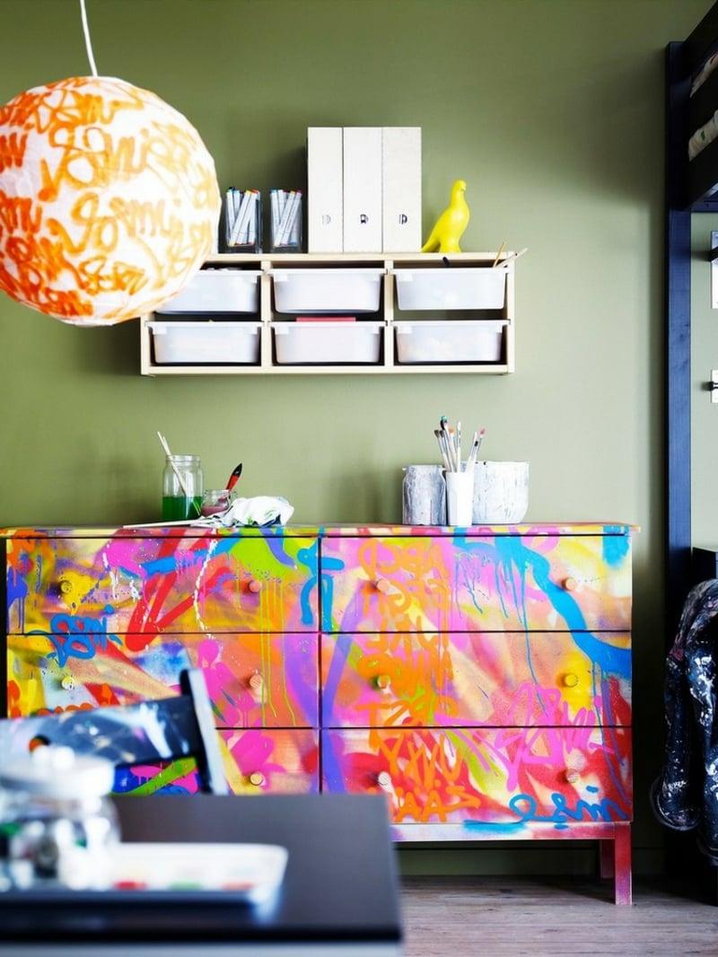 IKEA Hacks Kinderzimmer Kommode bemalen