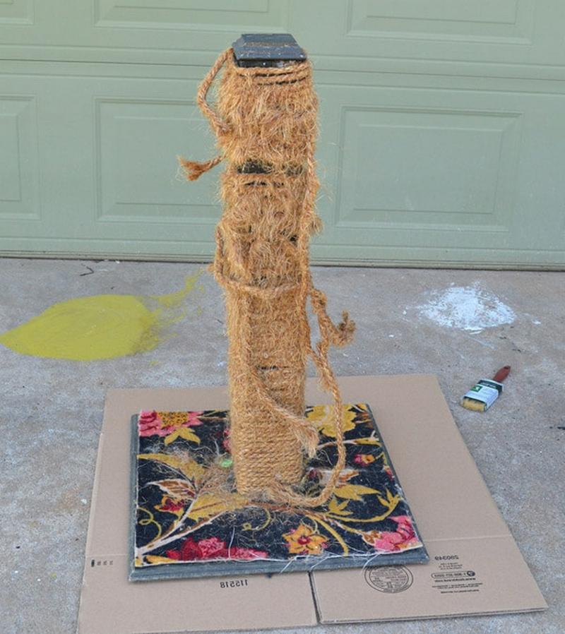Kratzbaum Seil reinigen
