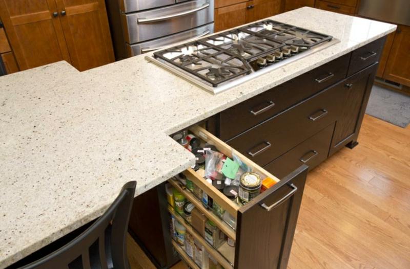 Apothekerschrank Kücheninsel Arbeitsplatte Quartz
