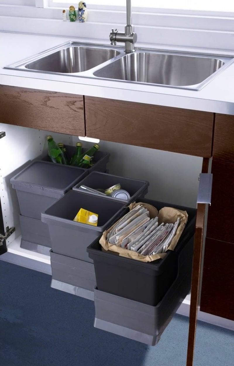 Mülleimer Küche den idealen Standort finden