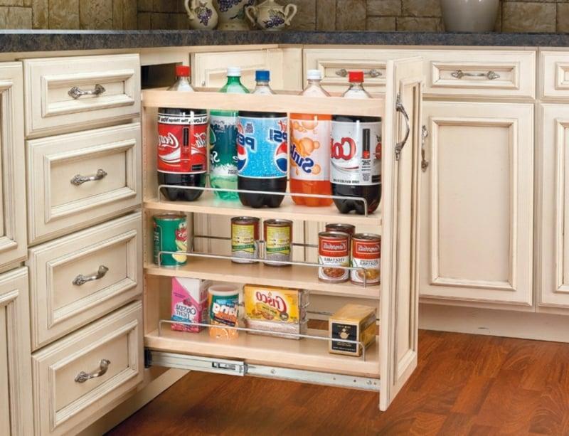 Unterschrank ausziehbar Küchenzeile Getränke aufbewahren