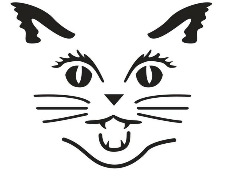 Schnitzvorlage Halloweenkürbis Katze
