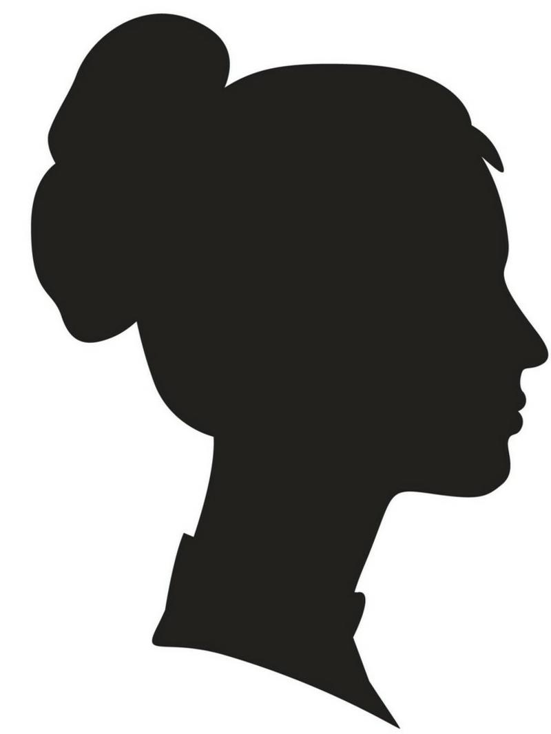 Kürbis Gesicht schnitzen Vorlage Silhouette Frau