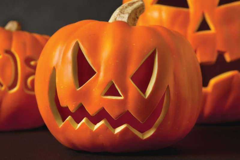 Kürbis Gesicht schauriger Look Halloween