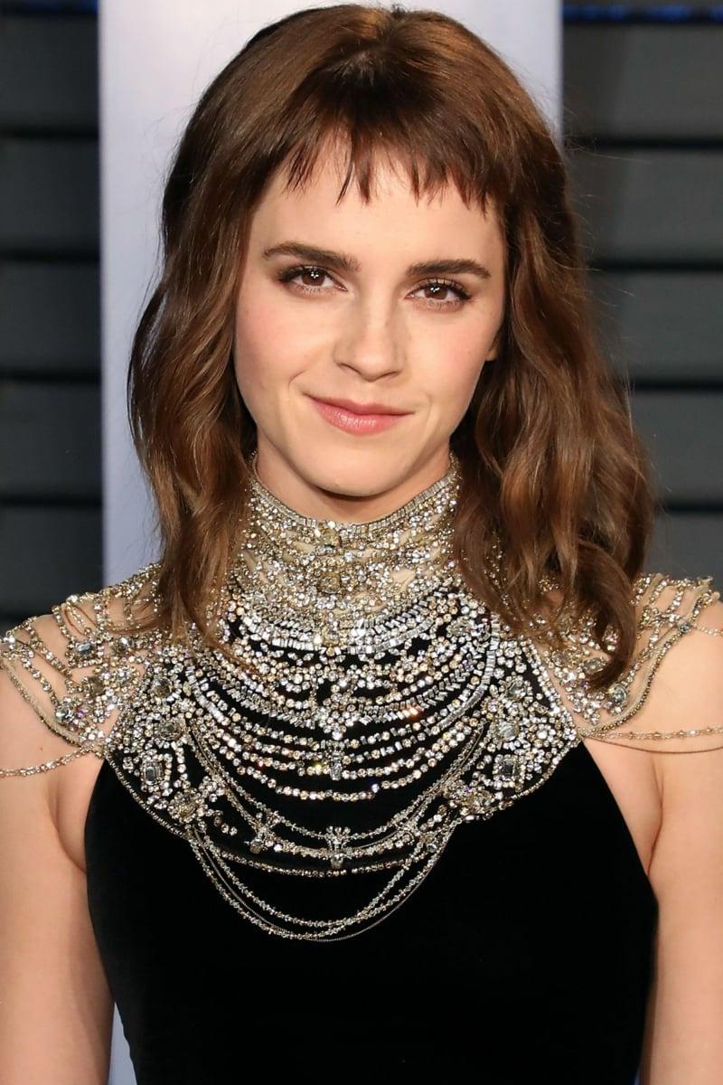stilvolle mittellange Frisur Emma Watson