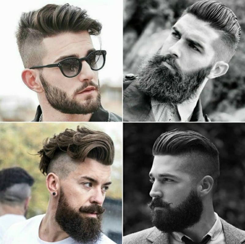 moderne Männerfrisuren mit Vollbart