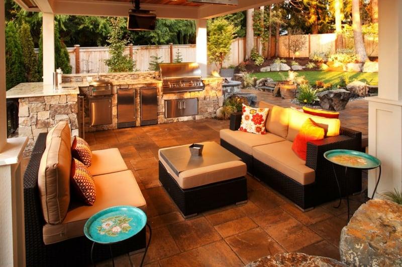 Outdoor Küche modern gemütlich Terrasse
