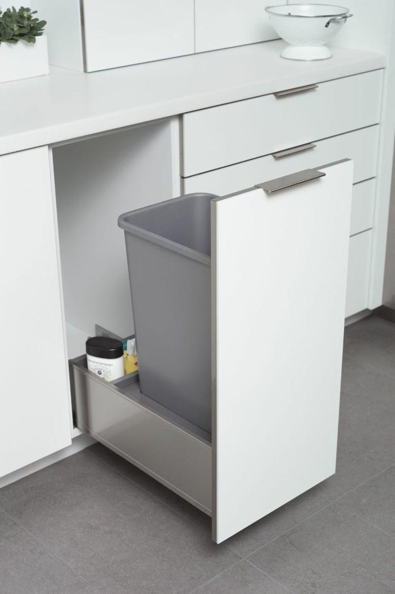 Mülleimer Küche verbergen praktische Ideen
