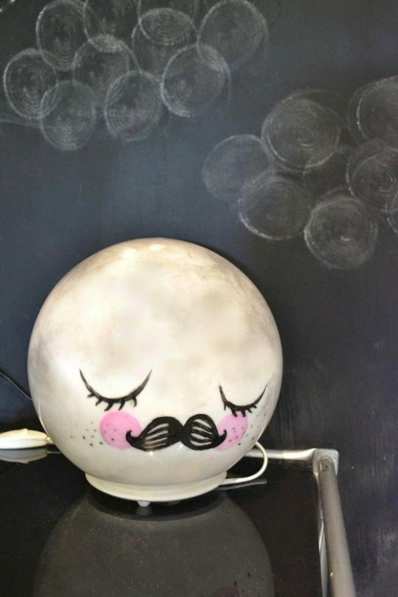 Nachtlampe dekorieren tolle Idee Kinderzimmer