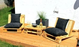 Palettenmöber Terrasse sieht toll aus für jeden Anlass!