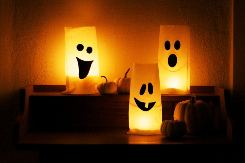 Halloween Deko coole Papierlaternen