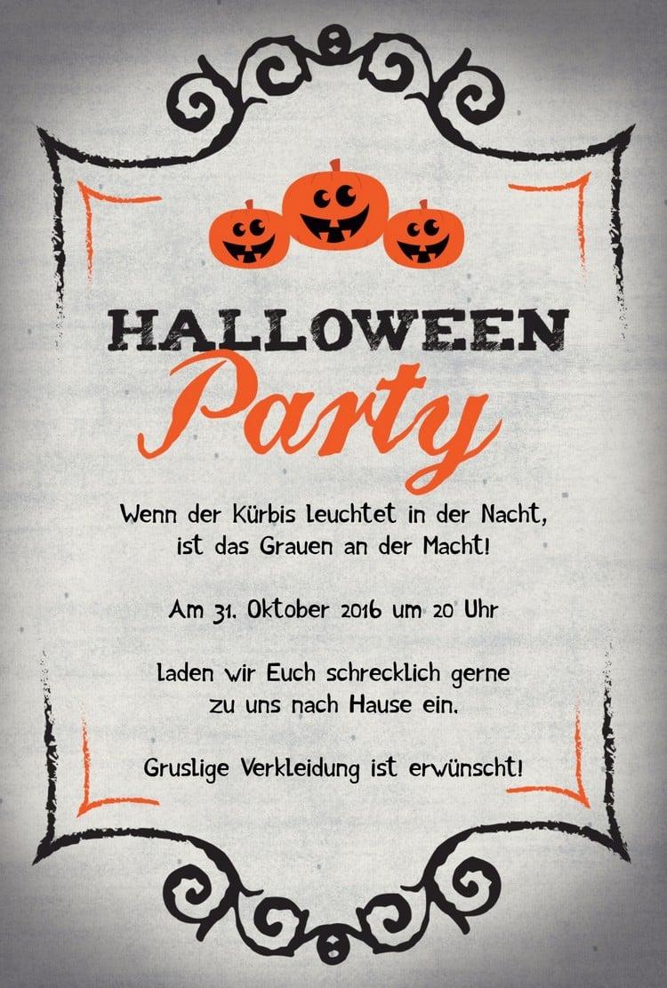 Einladung Mustertext Halloweenparty