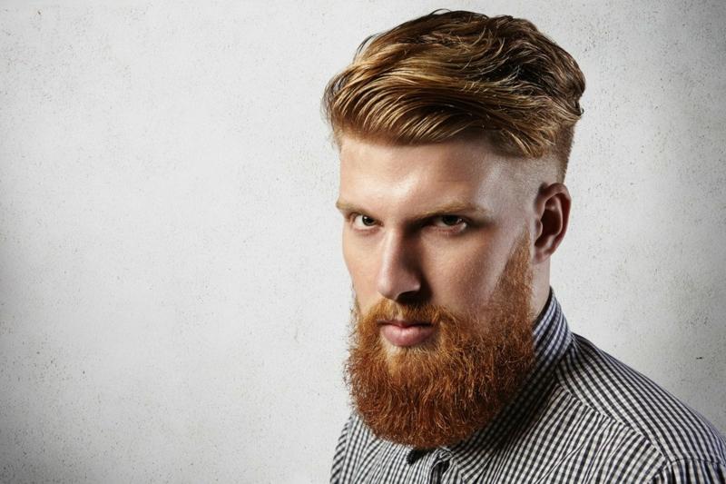 trendige Herrenfrisuren Pompadour Haarschnitt