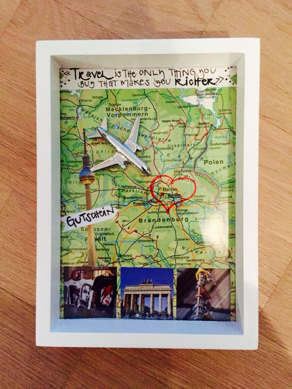 Gutschein selber machen Reise nach Berlin