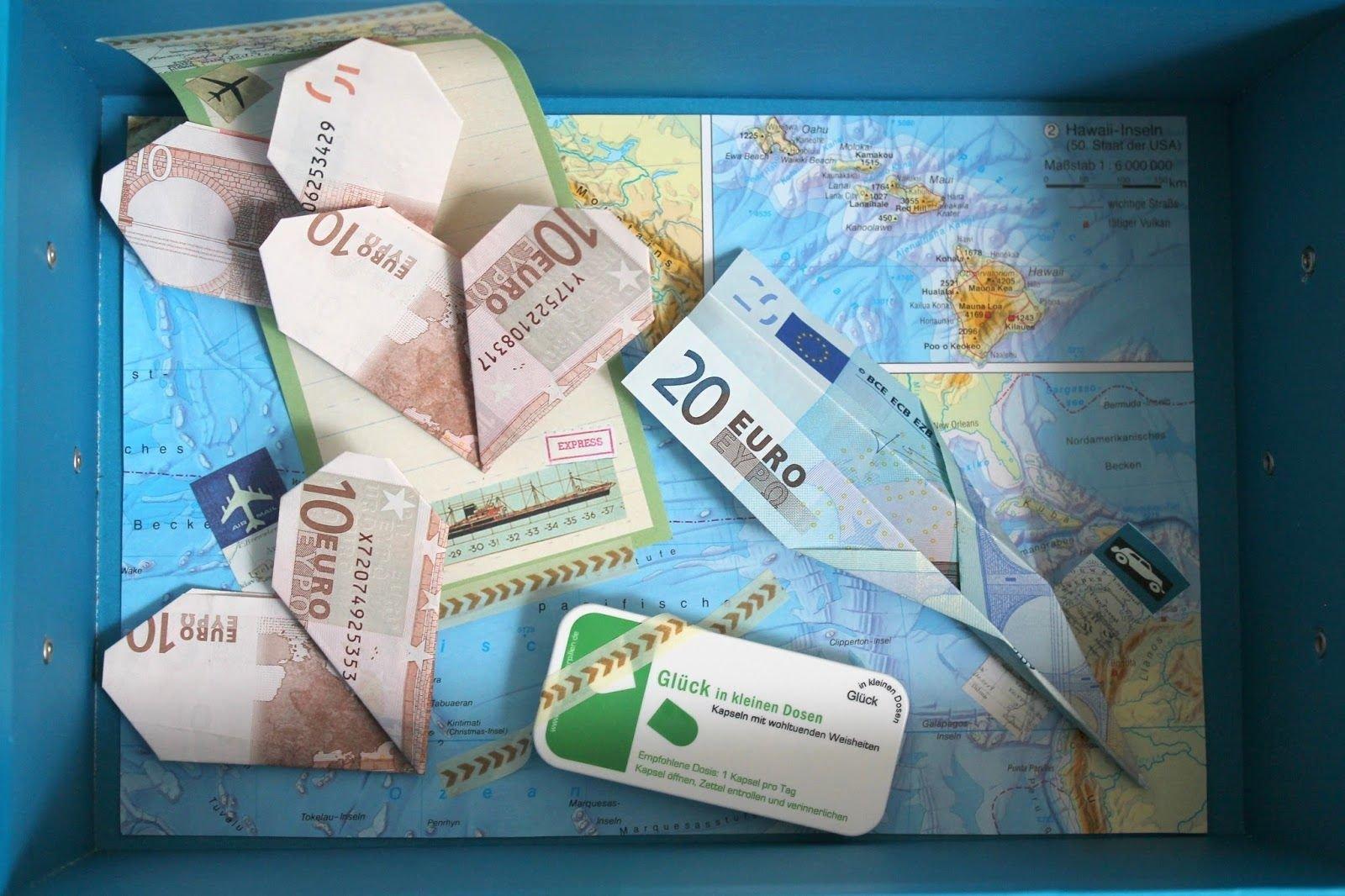 Gutschein DIY Reise Geldgeschenk