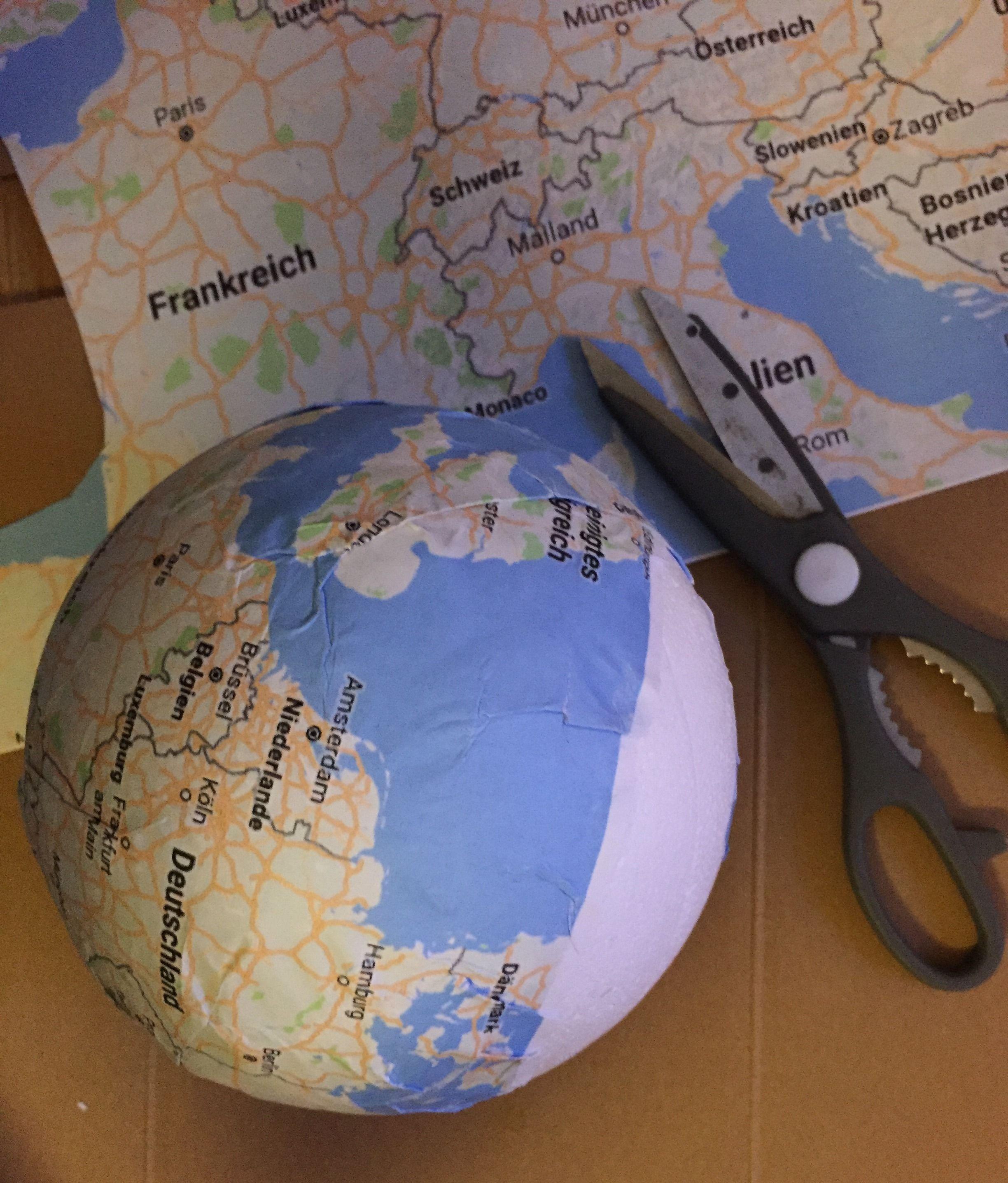 Reisegutschein basteln Globus