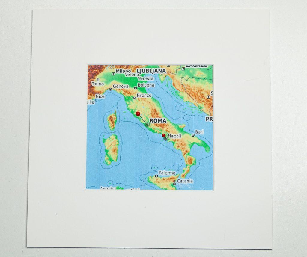 Reisegutschein basteln Landeskarte Italien