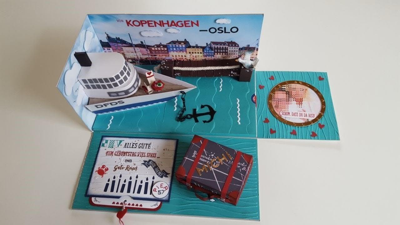 Reisegutschein basteln Schifffahrt Kopenhagen Oslo