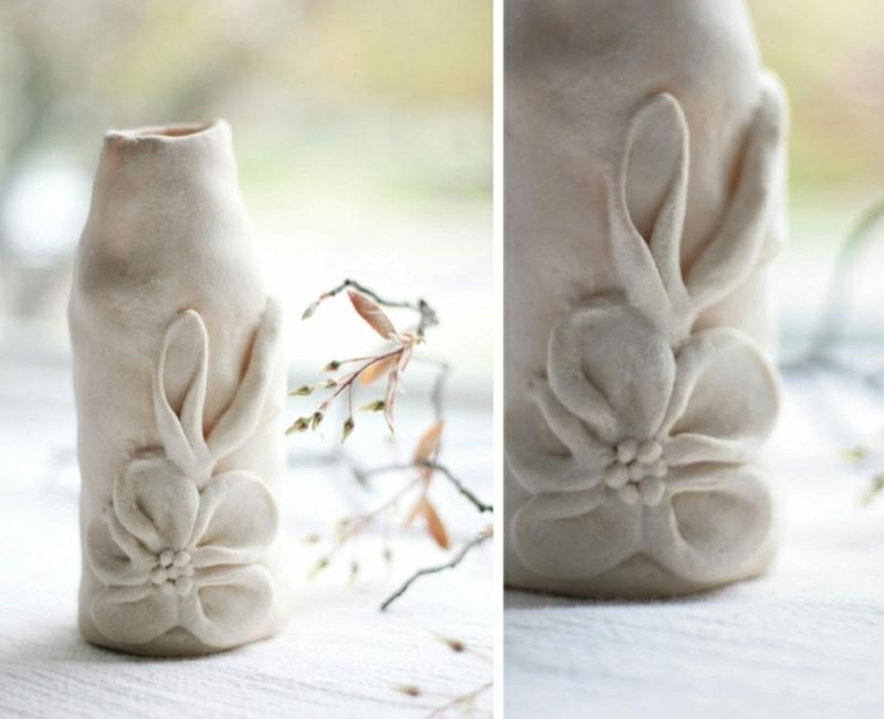 originelle Vase selbstgemacht Teig