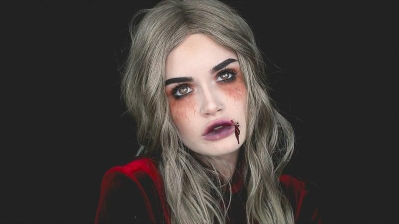 Vampir Make-up blasses Gesicht