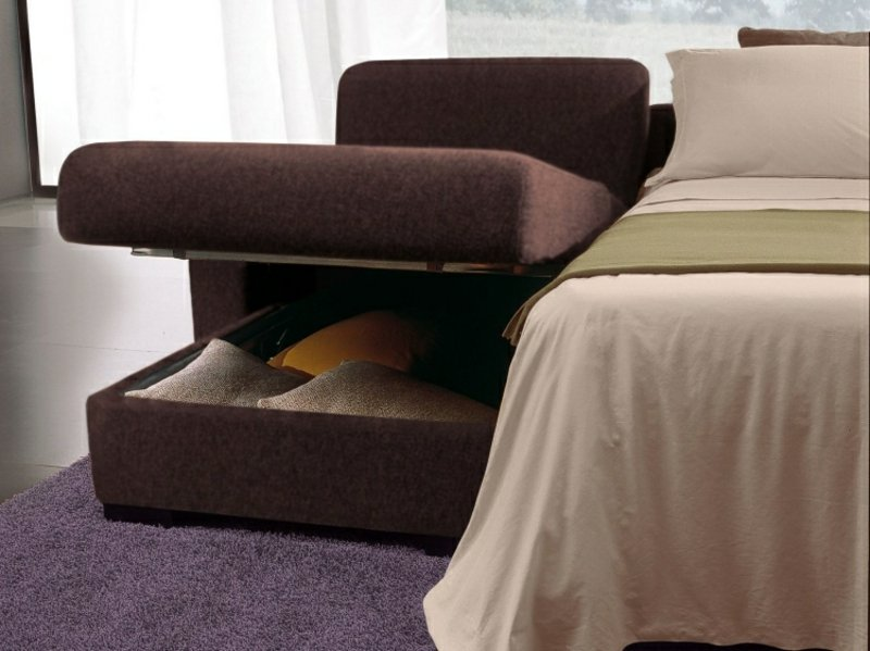 Schlafsofa mit Bettkasten Abteilung Bettwäsche aufbewahren
