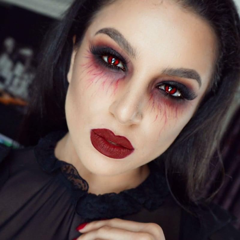 Vampir Mae-up Anleitung