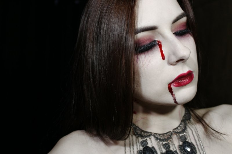 Vampir Make-up gruselig Kunstblut