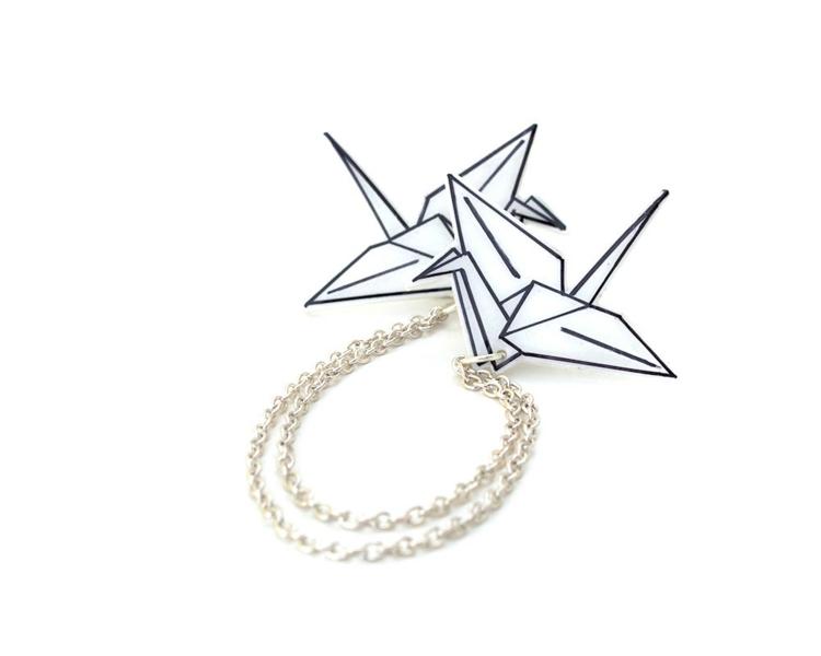 Basteln mit Schrumpffolie Origami Motiv