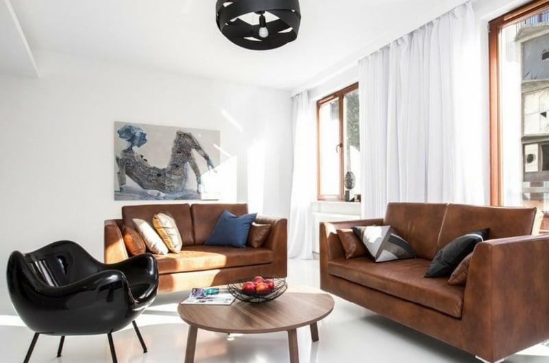 Ledermöbel bequeme Sofas Wohnzimmer