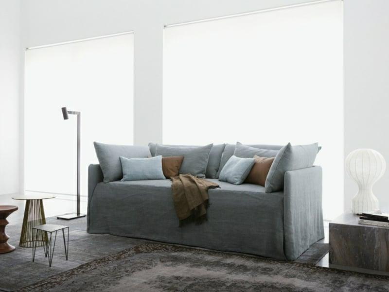 Sofa Wohnzimmer hoch weich bequem Bettfunktion