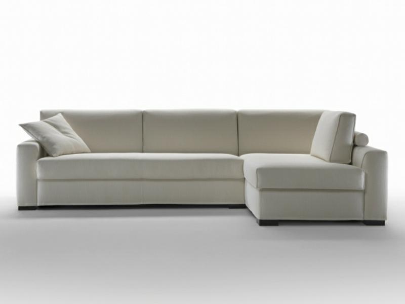 elegantes Ecksofa weiß Bettfunktion