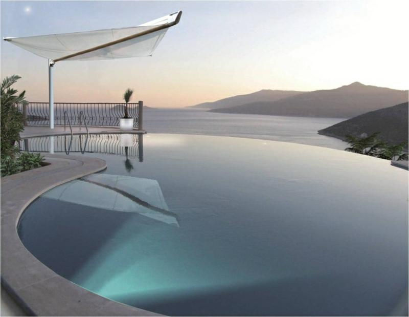 Sonnenschutz Pool moderne Ideen