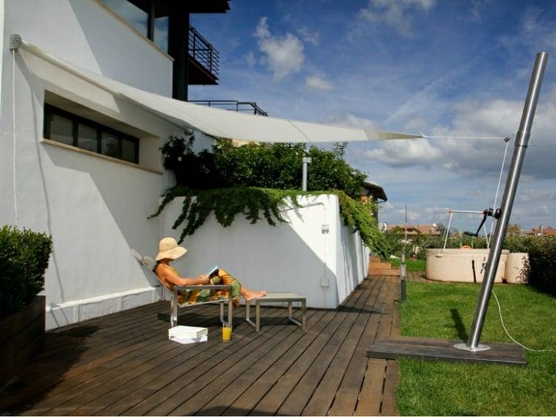 Sonnensegel Terrasse Sonnenschutz tolle Idee