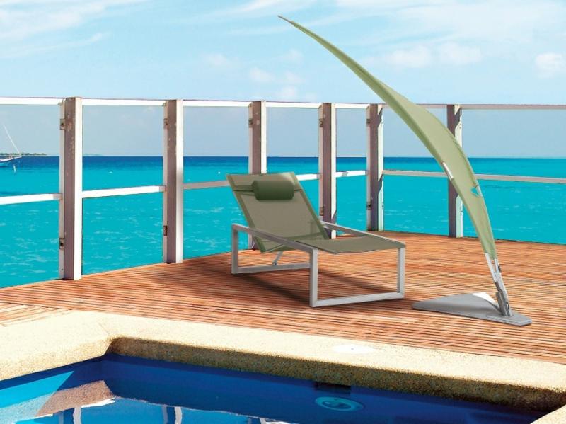 Sonnenschutz Ideen Liegestuhl Pool
