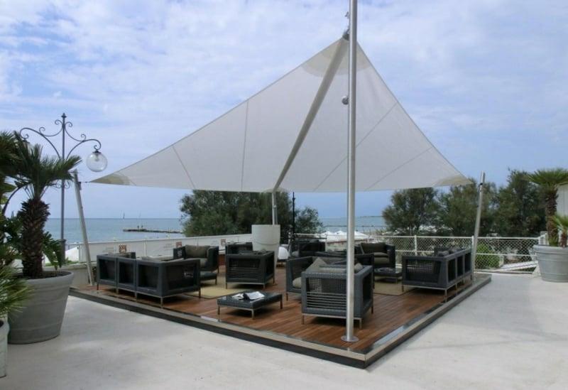 Außenbereich Sonnenschutz Segel