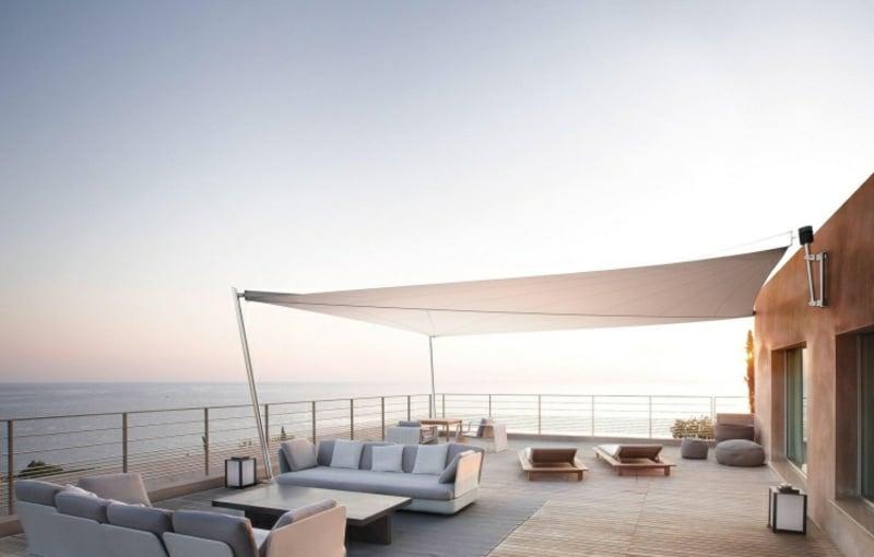 Sonnensegel Sicht und Sonnenschutz Garten Terrasse