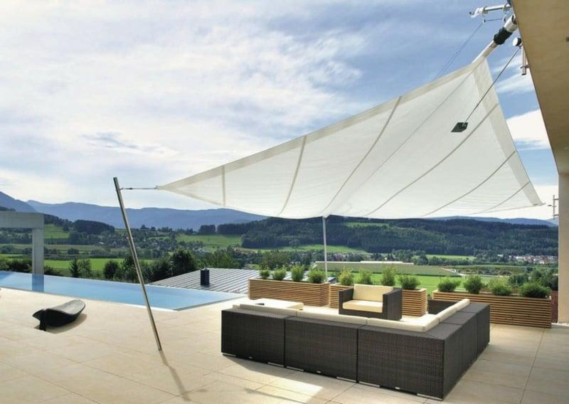 Terrasse Überdachung Sonnenschutz Ideen und Anregungen