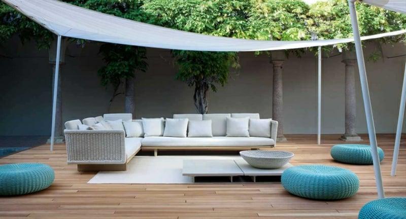 Sonnenschutz Außenbereich Sommer moderne Ideen