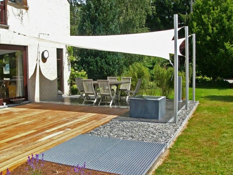 Sonnenschutz Außenbereich Segel Stahlröhren