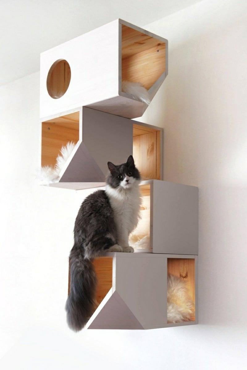 Spielturm Katze einzelne Plattformen