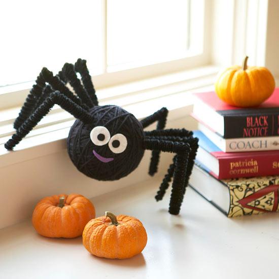 Halloween Deko Spinnen selber basteln