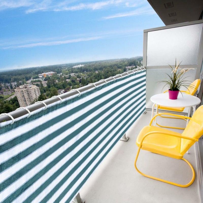 Stoffverkleidung Balkon Wetter und Sichtschutz