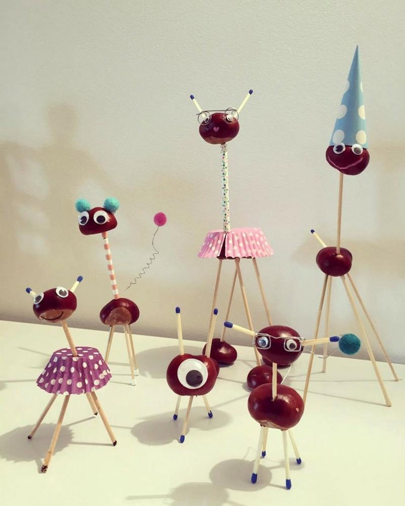 Tiere basteln mit Kindern kreative Ideen
