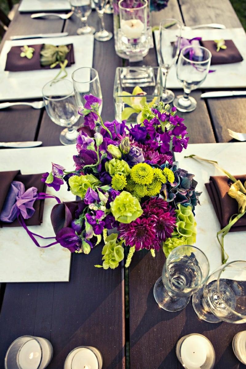 Blumengestecke arrangieren herrlicher Look Tisch verzieren