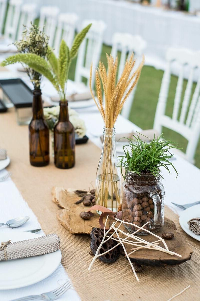 Tisch dekorieren ausgefallene Ideen originell