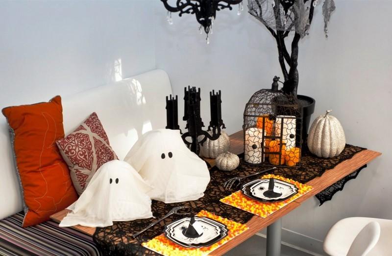 Halloween Deko Tisch Wohnzimmer